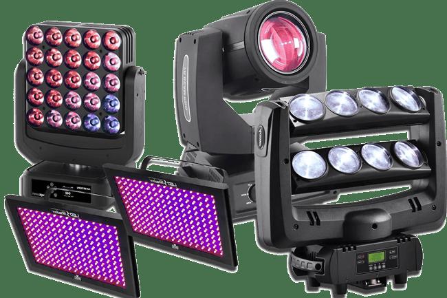 Alquiler de equipos de iluminación profesional
